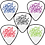Thumbnail: White Custom Delrin Guitar Picks