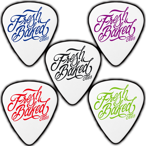 White Custom Delrin Guitar Picks