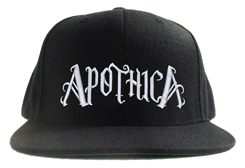 Apothica Flat Bill Cap White