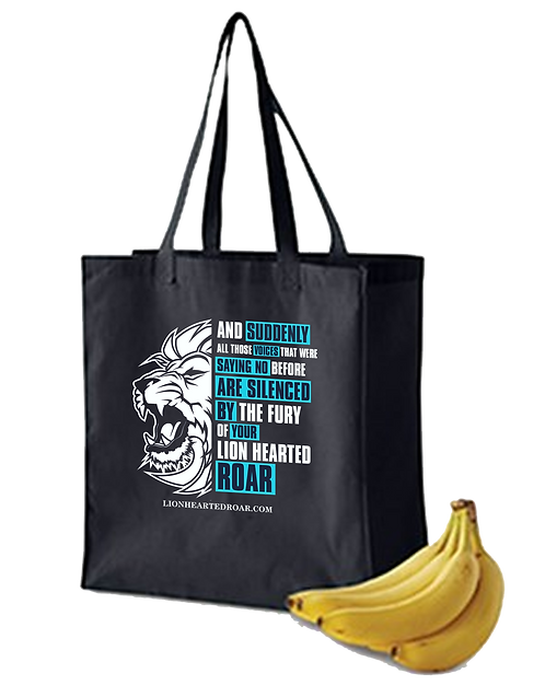 Chris Low Lion Hearted Roar Grocery Bag
