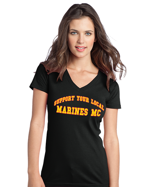 Marines MC Girls V-NeckTee