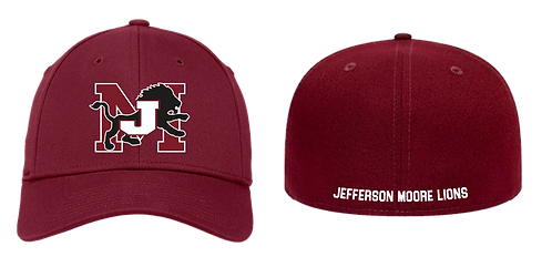 Jefferson Moore Flex Fit  Embroidered Cap Maroon