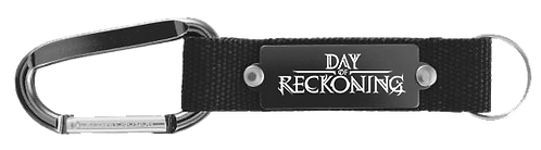 Day of Reckoning Carabiner Metal Plate Key Chain