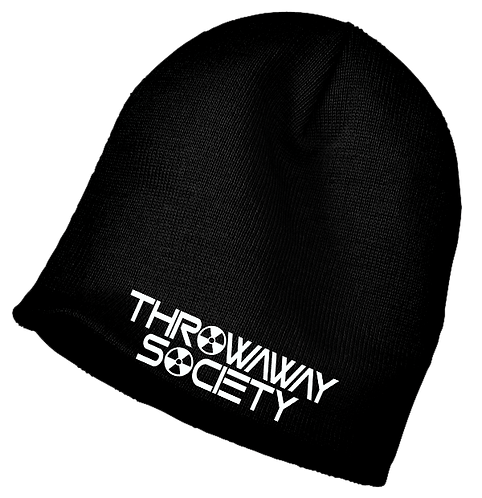 Throwaway Society Embroidered Beanie