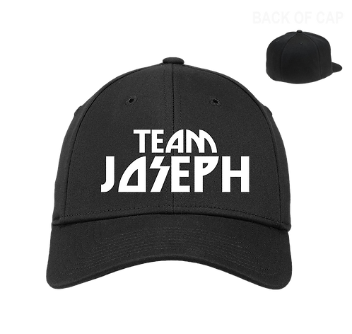 Team Joseph Flex Fit  Curved Bill Cap Black
