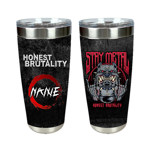 Honest Brutality Personalized Tumbler