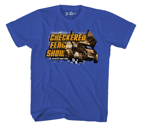 Checkered Flag Show Tee Blue