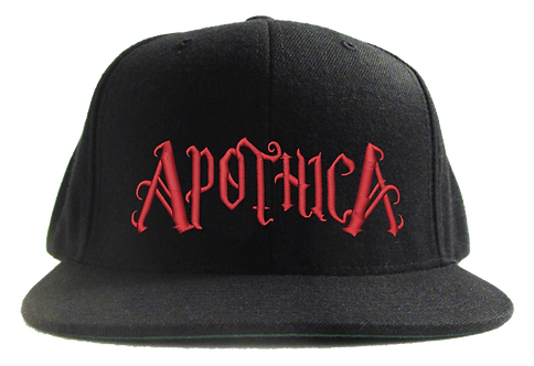 Apothica Flat Bill Cap Red