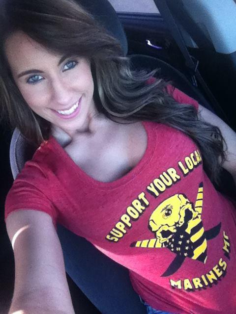 Marines MC Support GirlsTee