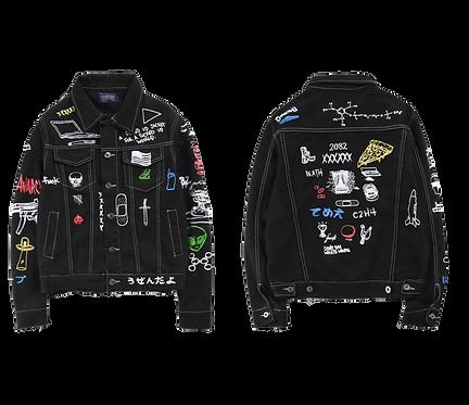 King Baby Black Denim Jacket