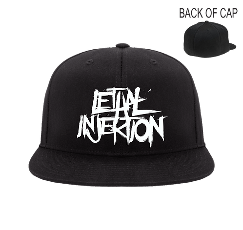 Lethal Injektion Flex Fit Flatbill Embroidered Cap