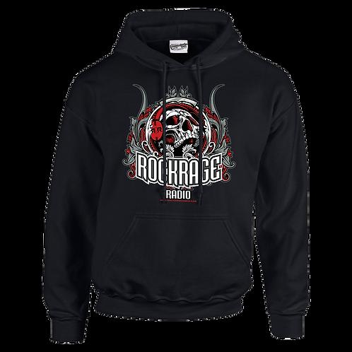 Rock Rage Radio Skull Hoodie