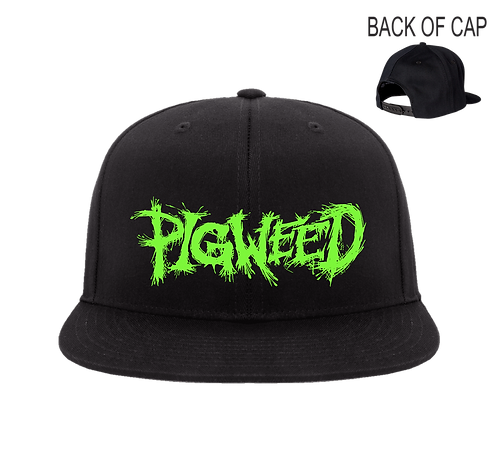 PIGWEED Snap Back Flatbill Embroidered Cap