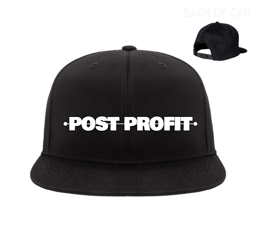 Post Profit Snap Back Flatbill Embroidered Cap