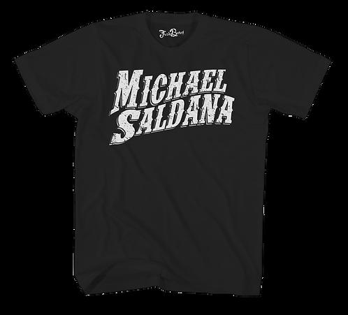 Michael Saldana Wavy Text Tee