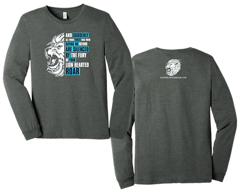 Chris Low Lion Hearted Gray LS Tee