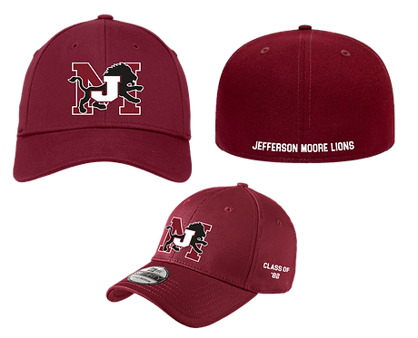 Class of Jefferson Moore Flex Fit  Embroidered Cap Maroon