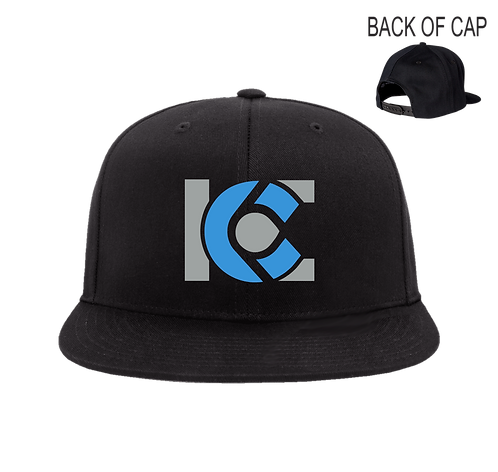 ICE Snap Back Flatbill Embroidered Cap
