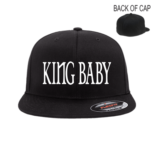 King Baby Flex Fit Flatbill Embroidered Cap