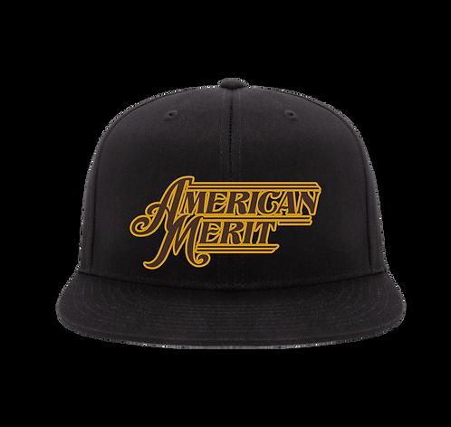 American Merit Embroidered Flatbill Snapback