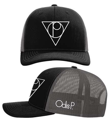 Odis P. Black Front Embroidered Snapback