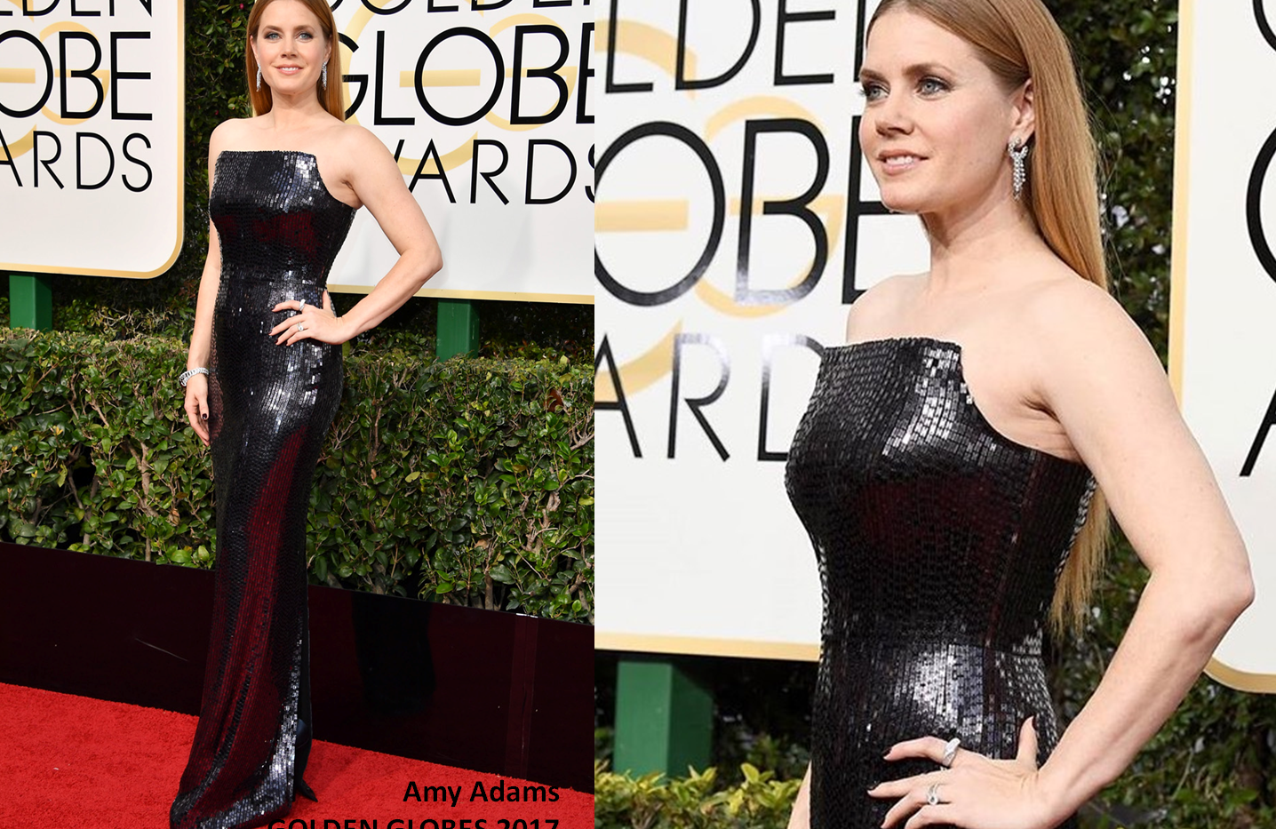 Amy Adams at Golden Globes 2015 wearing black  gown - Project for TOM FORD - pattern making - dressmaking - fitting / tailoring - managing - garment technology consult