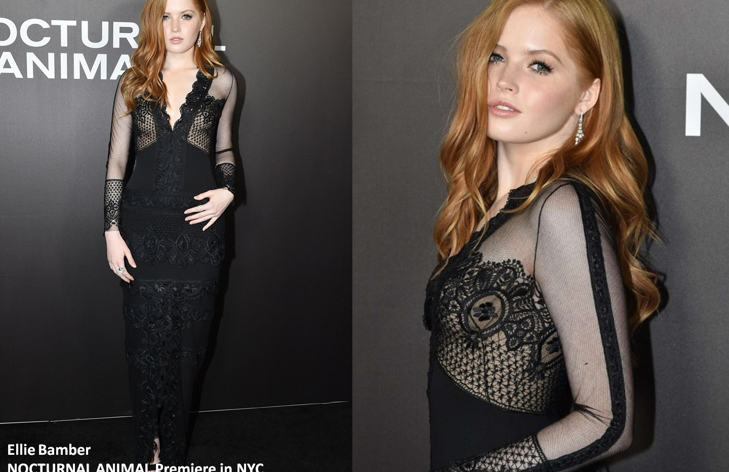 "Ellie Bamber at ""Nocturnal Animals"" premiere in NewYork wearing white gown - Project for TOM FORD - pattern making - dressmaking - fitting / tailoring - managing - garment technology consult"