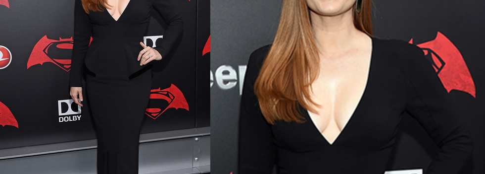 "Amy Adams at the ""Batman v Superman"" Premiere wearing black gown - Project for TOM FORD - pattern making - dressmaking - fitting / tailoring - managing - garment technology consult"