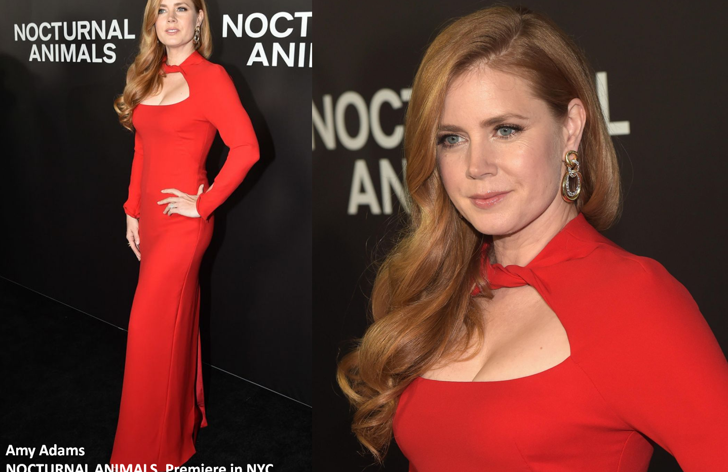 "Amy Adams at ""Nocturnal Animals"" premiere in NewYork wearing red gown - Project for TOM FORD - pattern making - dressmaking - fitting / tailoring - managing - garment technology consult"