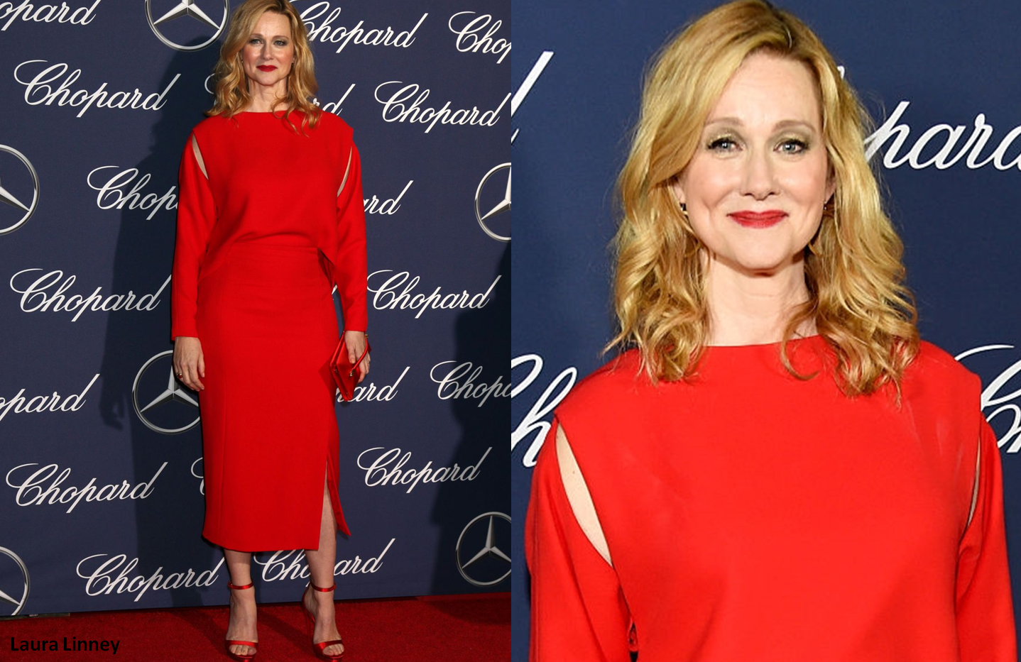 Lauren Linney at 28th Annual Palm Spring International Film Festival Awards wearing red dress - Project for TOM FORD - pattern making - dressmaking - fitting / tailoring - managing - garment technology consult