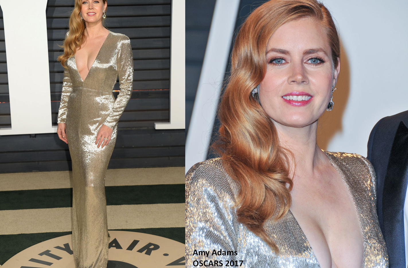 Amy Adams at the Oscars 2017 wearing silver gown - Project for TOM FORD - pattern making using OPTITEX - dressmaking - fitting / tailoring - managing - garment technology consult
