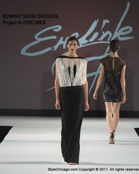 Couture Runway Show at Style Chicago - Project for EWELINEB  - design - pattern making - dressmaking - managing