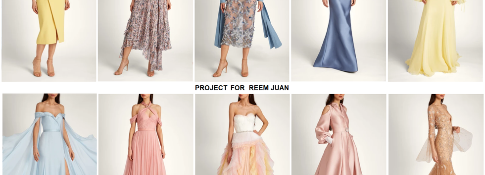 Spring/Summer 2020 Collection - Project for REEM JUAN - pattern making using OPTITEX - consulting - managing - quality control - garment technology consult