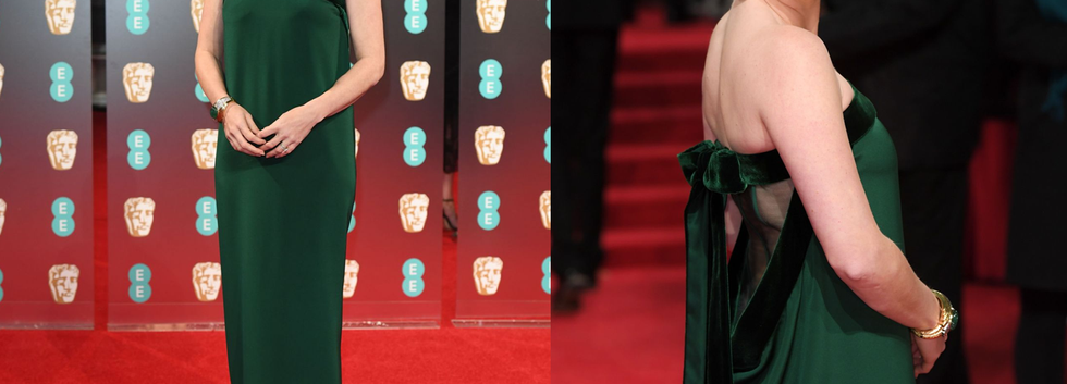 Amy Adams at BAFTA 2017 wearing green gown - Project for TOM FORD - pattern making using OPTITEX - dressmaking - fitting / tailoring - managing - garment technology consult