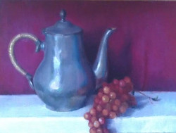 Teapot with Grapes