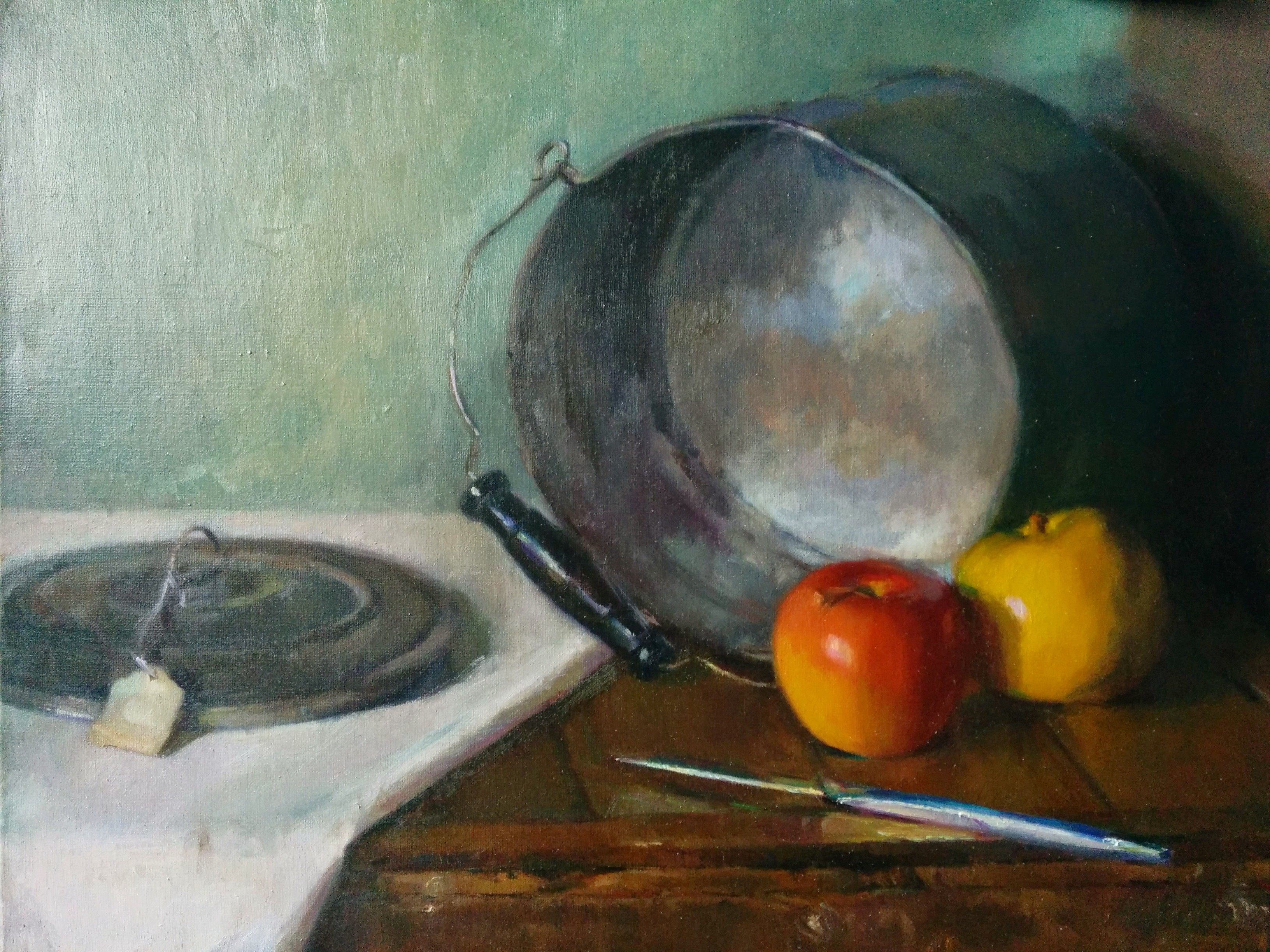 Still Life with Pail and Apples