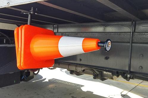 """Safety Cone Holder - Rear Facing (3) 28"""" Cones"""