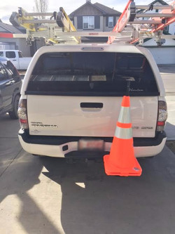 Hitch Mounted Safety Cone Holder