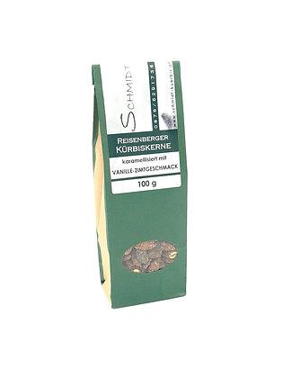 Reisenberger Kürbiskerne karamellisiert mit Vanille - Zimtgeschmack 100g