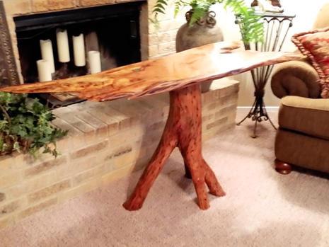 Rustic Mesquite Sofa Table