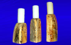 Spalted Cottonwood Candle Holders