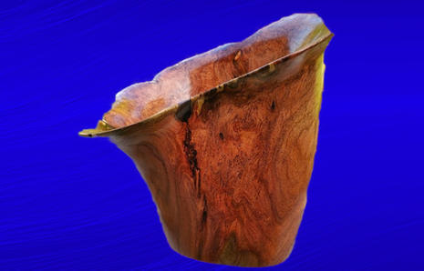 Mesquite With Chestnut Epoxy Inlay