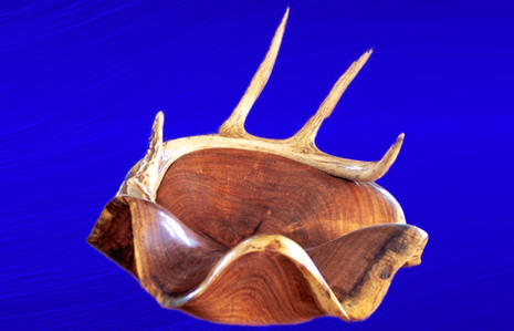 Mesquite With Inlayed Antler