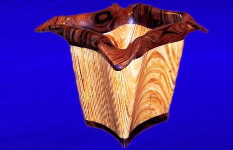 Plywood and Brazilian Rosewood Vase