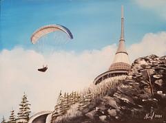 Paraglide na Ještědu