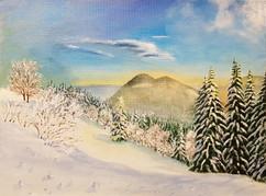 K016 Vánoční krajina