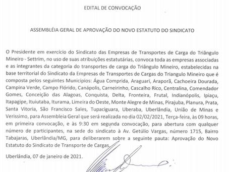 Edital de convocação - Assembleia Geral