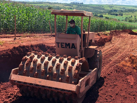 Começam obras emergenciais em erosão na MG-188 em Coromandel