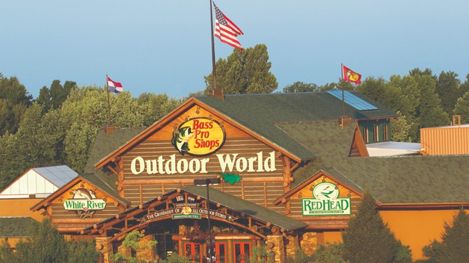 Going for a swim in Bass Pro Shops