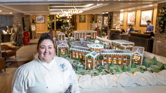 Forget gingerbread houses — The Grand Hotel in Fairhope comes to life in sweet miniature!